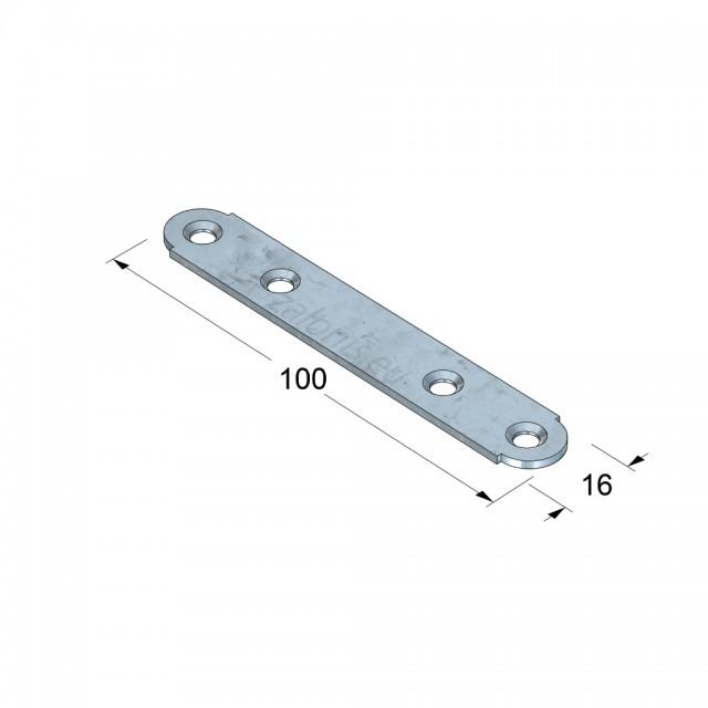 CONNECTION BAR 100 / GALVANIZED